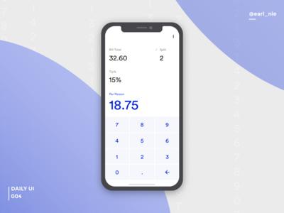 UI Challenge #004 (Calculator)