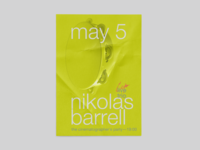 Nikolas Barrell Trio Poster