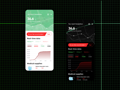 Medical information app ui design app