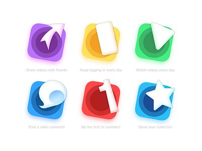 Level task icon design icon ui app