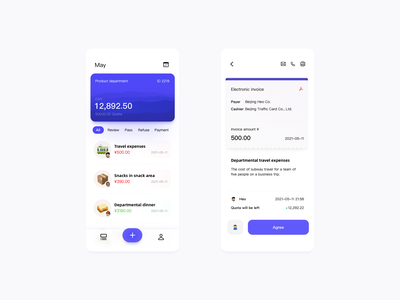 Team budget approval app design design ui app