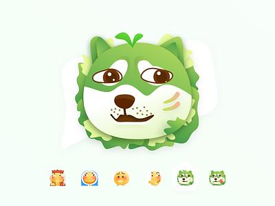 🥬 Vegetables Doge Sticker stickers icon design