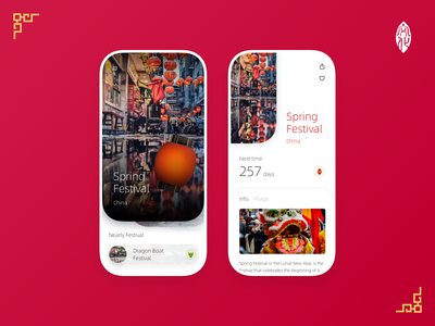 Cultural and traditional festivals of various countries ux ui design app