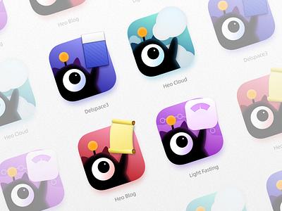 Heo Software Family Icons logo ui icon design app