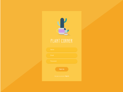 Day 001 : Sign Up - Daily UI challenge