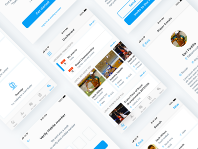 Social application for sport teams and team members