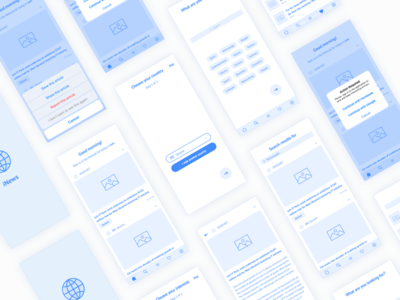 Wireframes for news app
