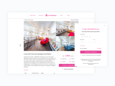 Property & Payment page