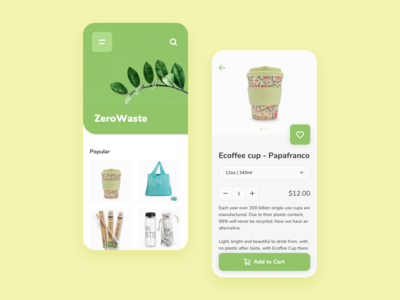 E-commerce Eco App Concept