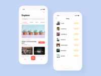Search Events App Concept
