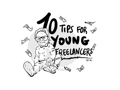 10tips newsletter freelance tips illustration