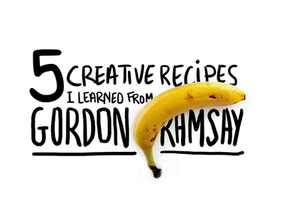 Gordon Ramsay banana type illustration