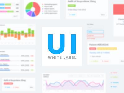 Medical Digital Platform forms graph metrics data white clean light interface design uikit ui medical