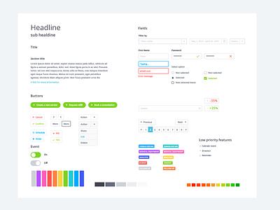 UI Kit white uikit ui metrics medical light interface graph forms design data clean