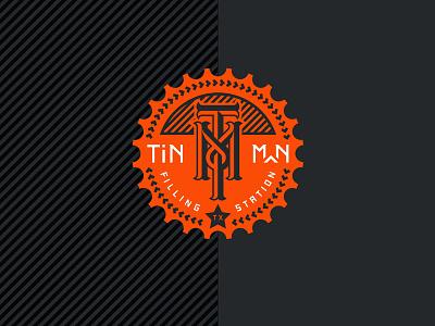 TIN MAN FILLING STATION branding packaging identity tin man texas beer filling station black orange growler beer