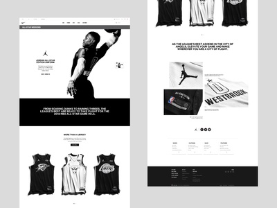 All-Star Weekend basketball jordan nike website web website design web design