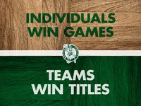 Celtics locker room sign