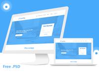 Landgig – Landing page template free psd download