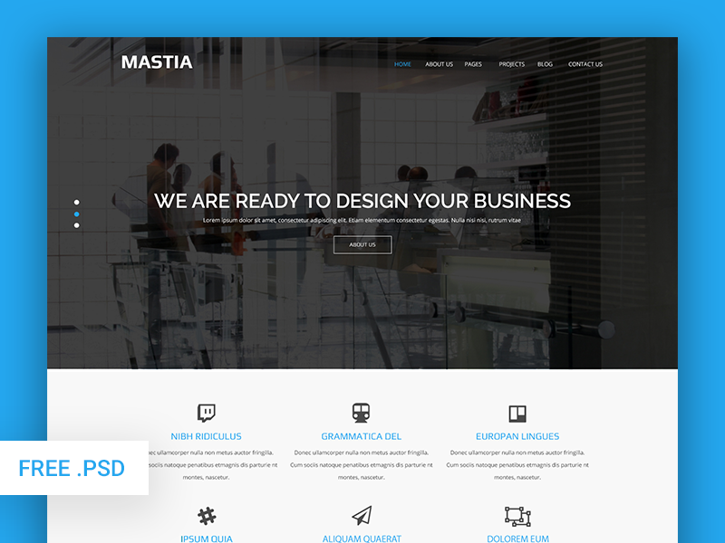 Mastia multipage business psd web template free download by revol essdf mastia is a corporate professional and modern multipurpose high quality psd website template friedricerecipe Images