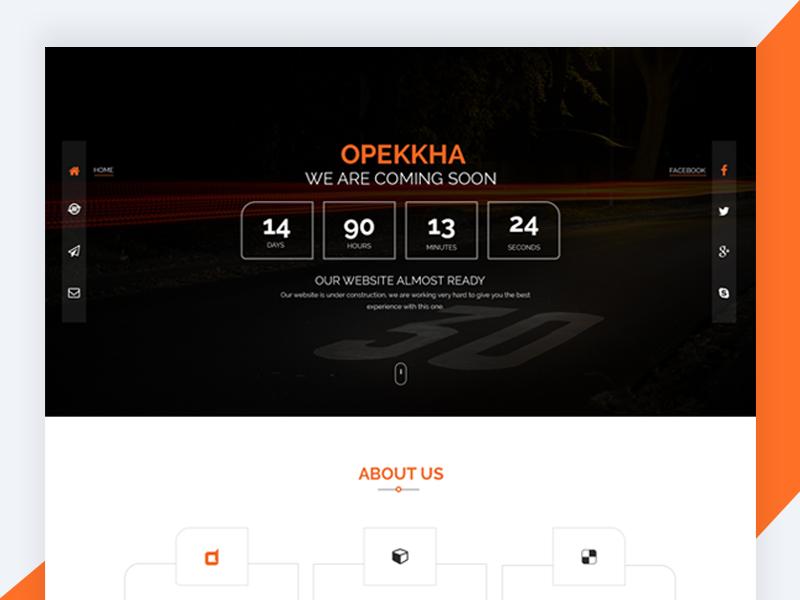 Opekkha – HTML5 Responsive Coming Soon Template free html template freebie revolthemes web design bootstrap design template web css html coming soon opekkha