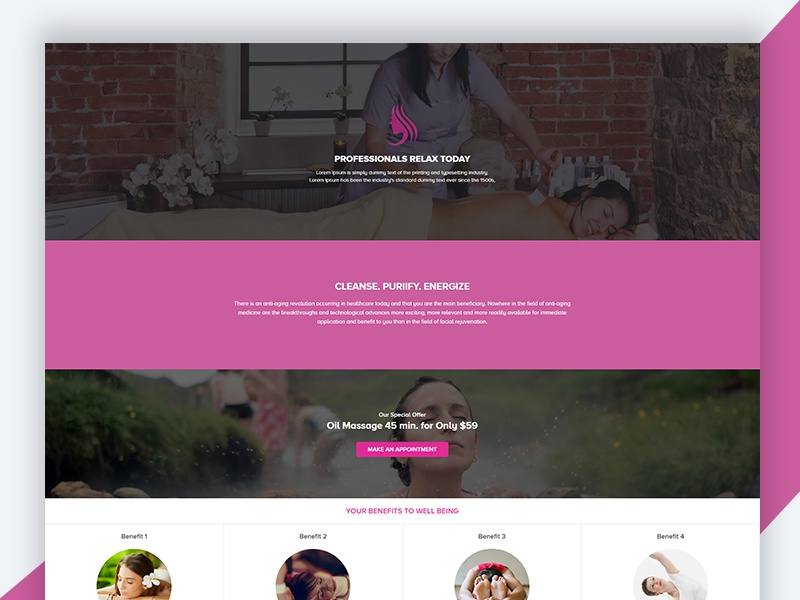 Spa – Beauty Free HTML Template Download saloon free html template freebie revolthemes web design bootstrap design web html business spa