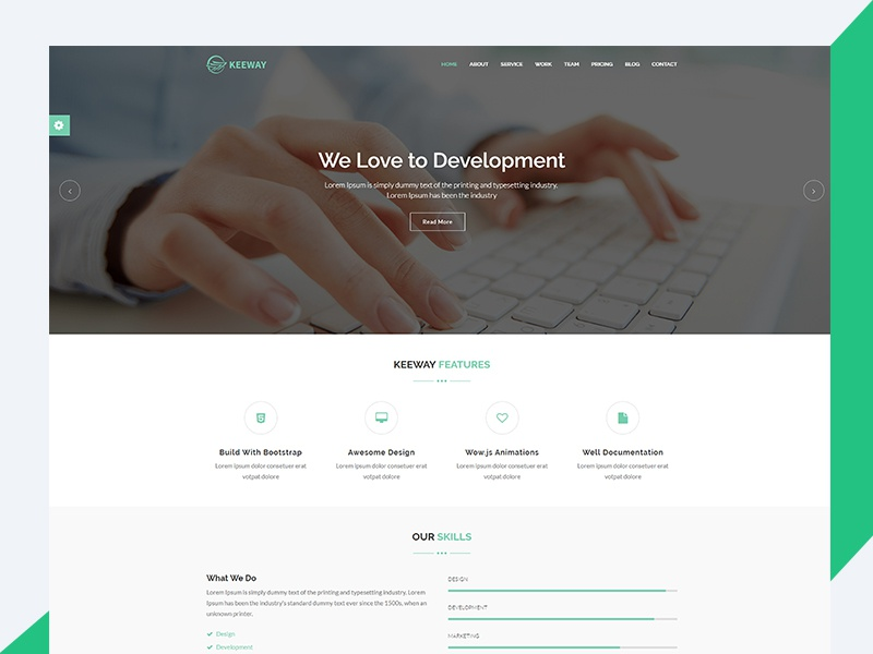 Keeway – Material Design HTML5 Agency Template travel html template revolthemes web design bootstrap web css html business