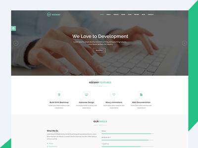 Keeway – Material Design HTML5 Agency Template