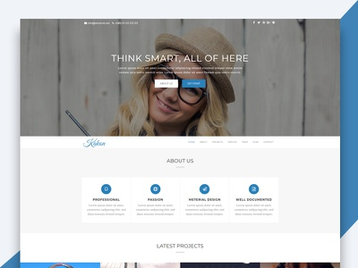 Kakon – Design Studio Marketing Agency Bootstrap Template html template revolthemes web design bootstrap web css html business