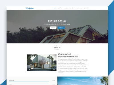 Nurjahan – Creative Architecture & Interior HTML5 Template freebie free html template revolthemes web design bootstrap web css html business