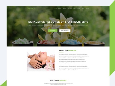 Monalisa – Health & Beauty Bootstrap Template beauty spa html template revolthemes web design bootstrap web css html business