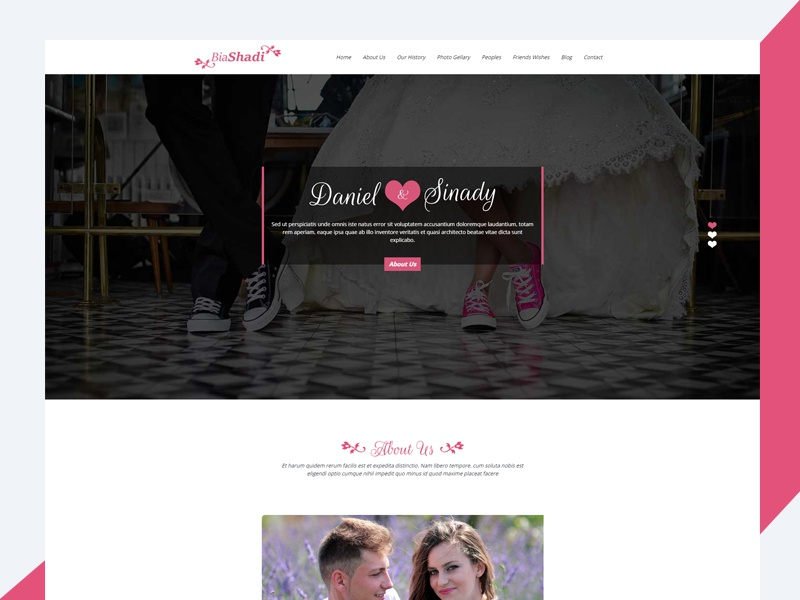 Biashadi - Responsive Wedding Template Free Download responsive css3 download free template wedding bootstrap html biashadi