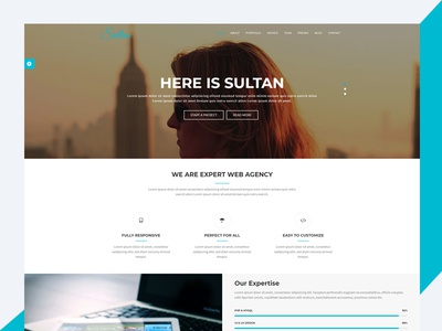Sultan – One Page Bootstrap Business Template