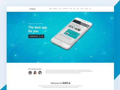 Kayla Bootstrap App Landing Page landing page responsive css3 download free template bootstrap html topapps