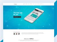 Kayla Bootstrap App Landing Page
