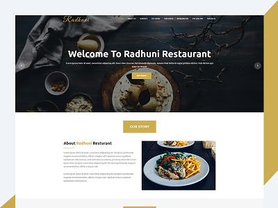RadhuniX – Responsive Restaurant HTML5 Template responsive css3 download free template restaurant bootstrap html radhunix revolthemes