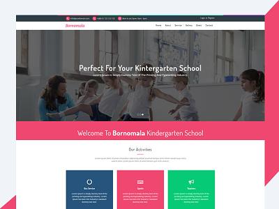 Bornomala – Kindergarten & School HTML Template bootstrap html template education html template web template web design web bootstrap template html bornomala