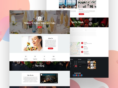 Radhuni – Cafe & Restaurant Bootstrap Template bootstrap html template cafe html template web template web design web bootstrap template html radhuni