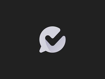 Chat monogram concept chat mark monogram logo design symbol identity brandmark branding brand logotype logo