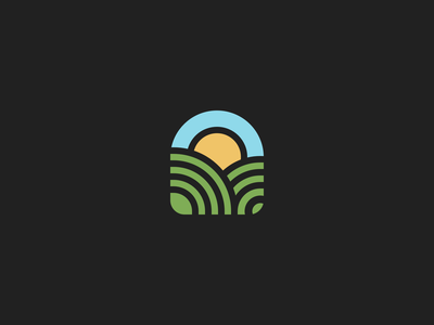 Field mark concept symbol field logo concept mark monogram logo design identity brandmark branding icon brand logotype logo