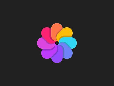Flower mark colorful logo colorful branding mark logo concept monogram logo design identity brandmark brand logotype logo