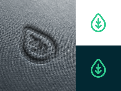 Water drop water drop drop mark monogram logo concept logo design identity brandmark brand branding logotype logo