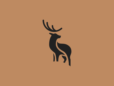 Deer mark animal deer logo concept monogram identity logo design brandmark branding brand logotype logo