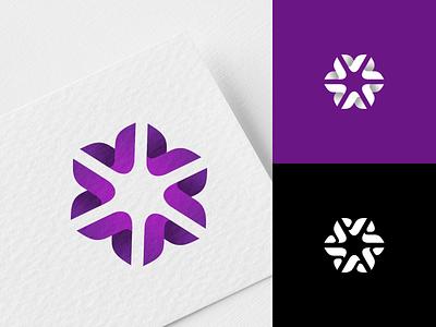 Plastic flower plastic flower mark logo concept monogram logo design identity brandmark branding brand logotype logo