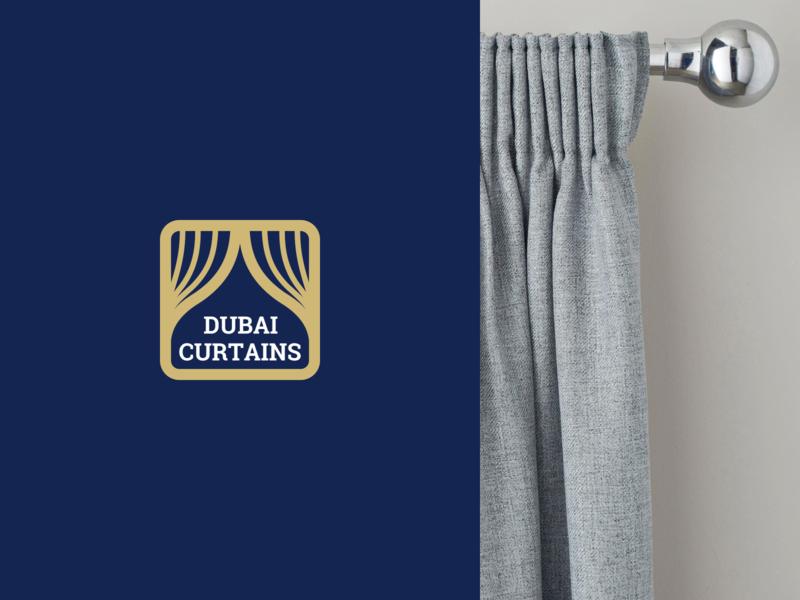 Dubai Curtains logotype concept curtains brand logotype logo