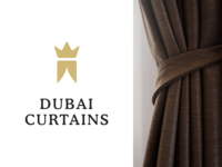 Dubai Curtains logotype concept v2