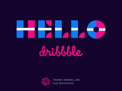 Hello Dribbble! debut shot first dribbble hello