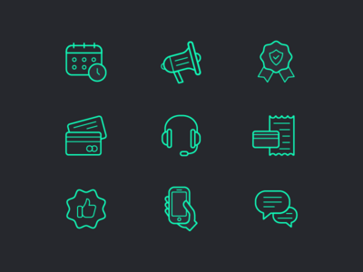 Business icon set icons marketing business finance vector set outline stroke line icon