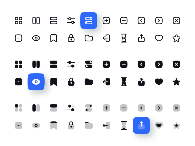 User Interface Icon Set icons icon set user interface clean minimalism interface line solid duotone ui ux light dark figma png svg vector