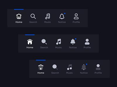 Tab Bar Navigation | Universal Icon Set v2.0 minimalism interface clean figma 123done app mobile ui ios navbar mobile universal icon set icon set tabs tab bar icons navigation tabbar tab bar ui