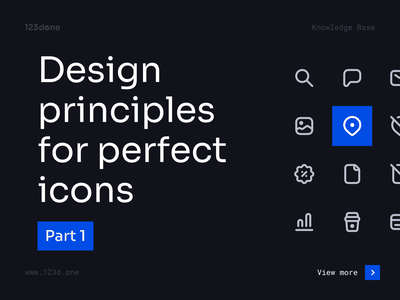 Design principles for perfect icons | Part 1 ui minimalism 123done universal icon set iconset icon pack icon design symbol iconography icon system glyph vector icons icon set icons icon tutorial education guide tips